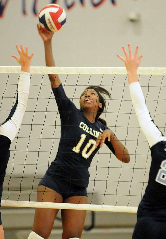 Klein Collins junior Tabitha Brown leads the Tigers in kills and aces, and is second in digs. Photo: David Hopper, Freelance / freelance
