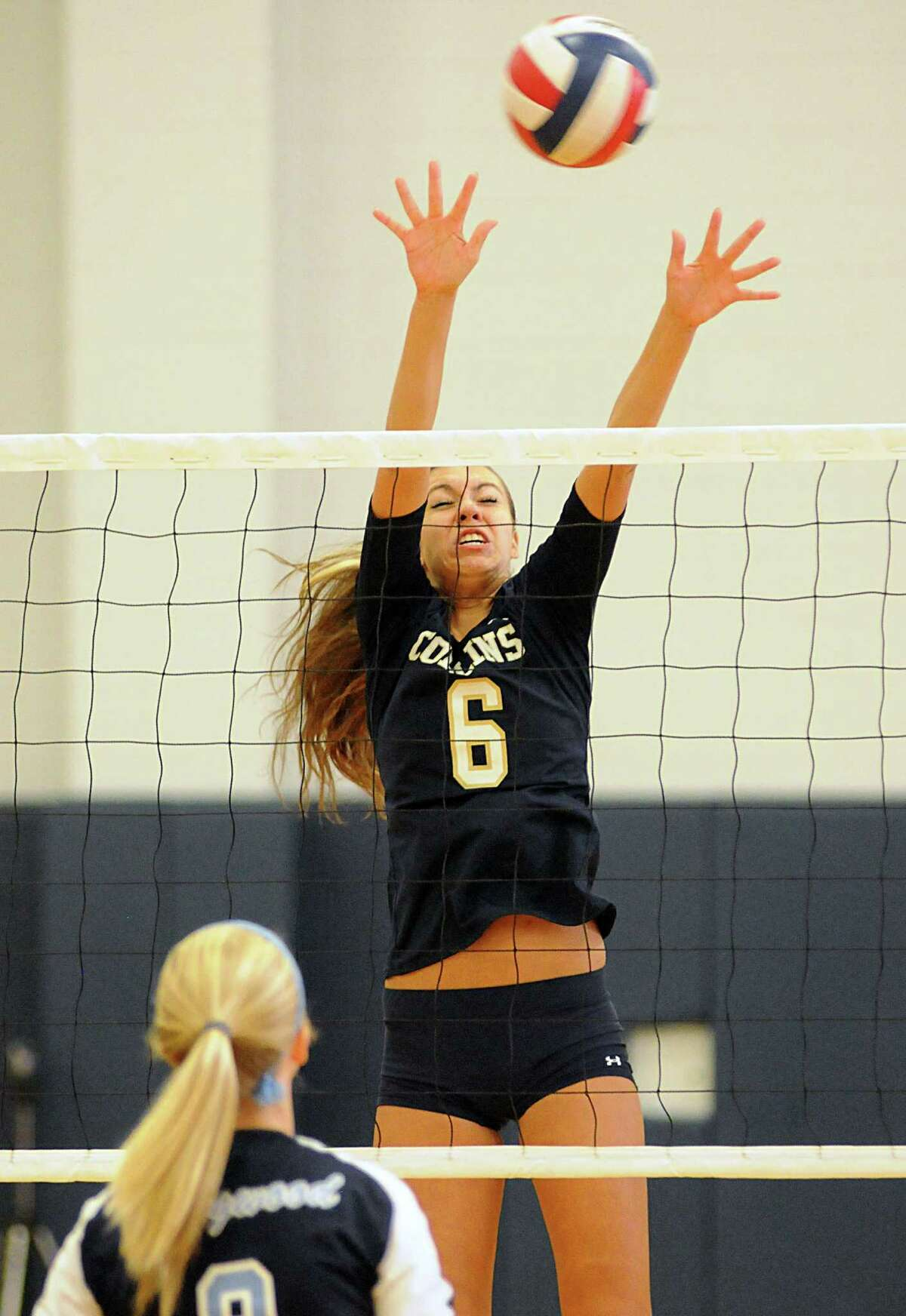 Klein Collins senior middle blocker Brooke Garcia and the Tigers travel to Klein to face the Bearkats Friday.