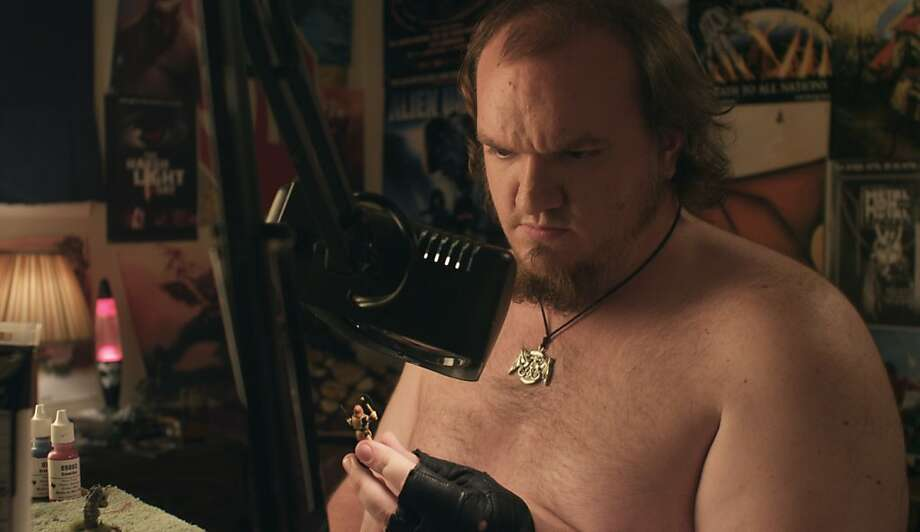 """Sam Eidson plays Scott in """"Zero Charisma,"""" about an overgrown nerd who plays a fantasy board game. Photo: Tribeca Film"""