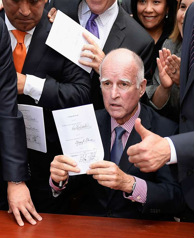 Gov. Jerry Brown seems to be trying to do the right thing on immigration, but it's not easy to figure out what that is. Photo: Kevork Djansezian, Getty Images