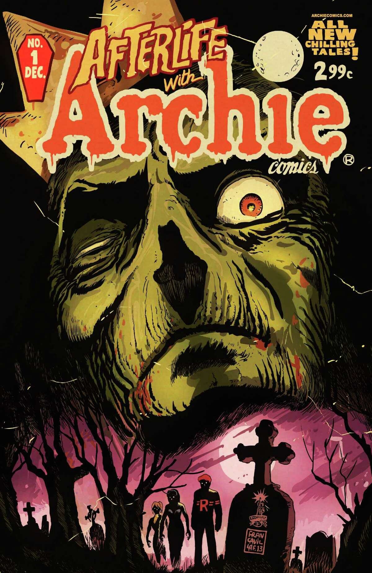 """""""Afterlife With Archie"""" sees Archie, Betty, Jughead, Veronica and others enveloped in a dark world."""