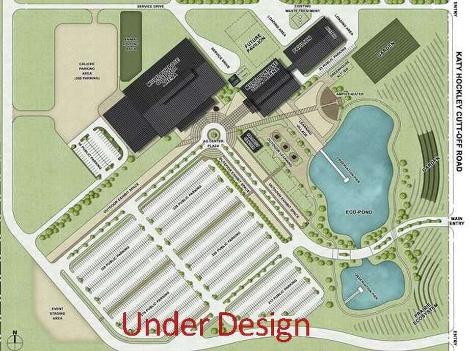 A conceptual site plan shows the proposed agriculture facility in the Katy Independent School District.