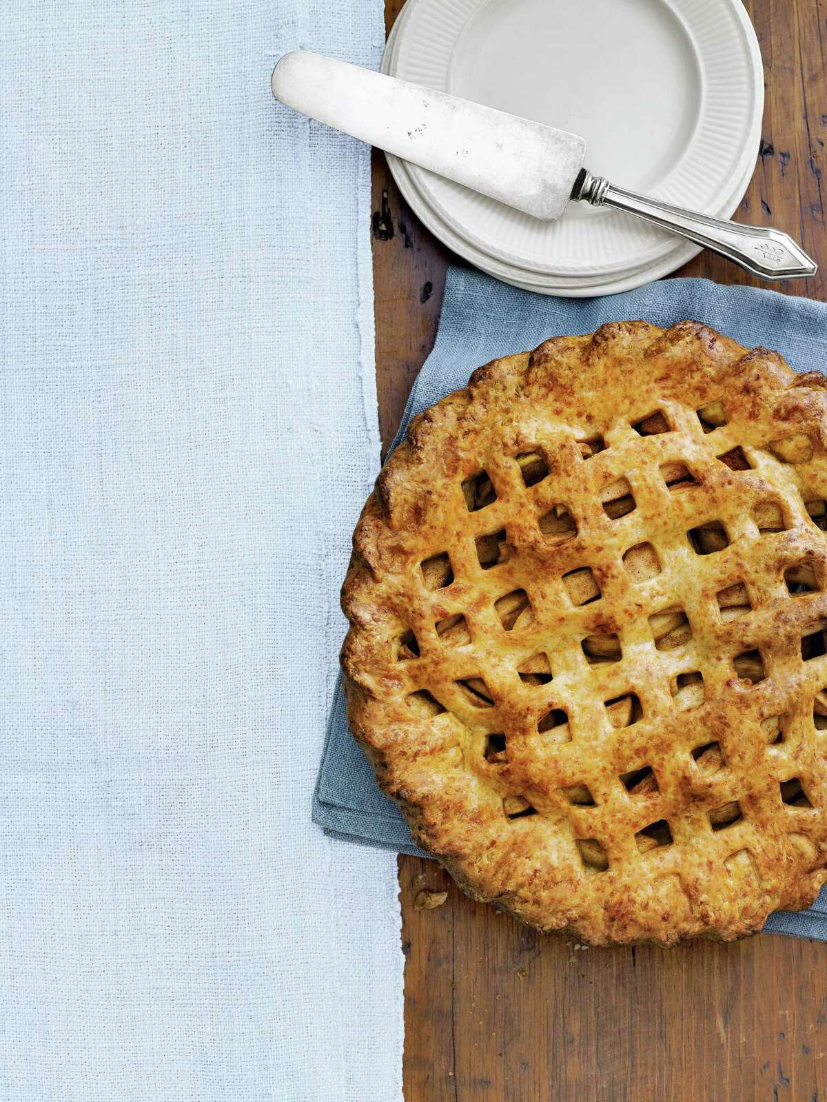 Country Living recipe for Cheddar Apple Pie.