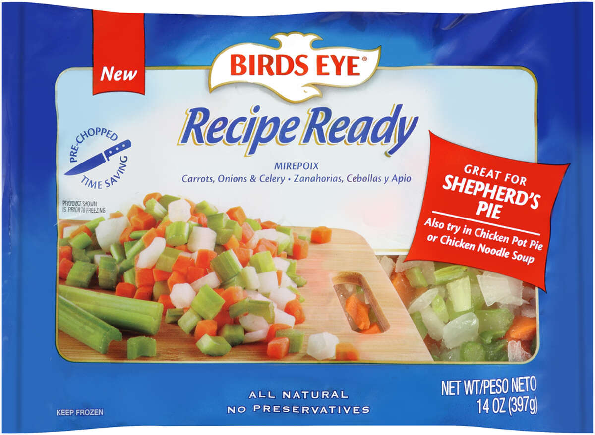 Birds Eye has put some thought into lunch and dinnerwith a new line of frozen vegetables aimed at quick and tasty meals. Birds Eye Recipe Ready frozen vegetables are ready to go into stir-frys, fajitas, tacos, pasta, and chicken and beef entrees. There are 20 varieties in the line which include stew blend (carrots, onions, potatoes and celery), mirepoix (carrots, onions and celery), primavera (red peppers, asparagus, peas and julienne carrots), Southwest blend (corn, black beans, poblano peppers, red peppers and onions), and broccoli stir fry (broccoli, carrots, onions, red peppers, water chestnuts, mushrooms and celery). If you ever needed just a bit of sofrito for chicken and rice, or mixed mushrooms for a pasta or some peppers, onions and mushrooms for a veggie, pizza, Birds Eye has thought to include them in the new line priced between $1.59 and $2.59.