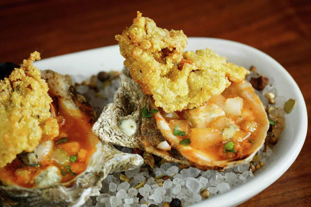 Grilled Oysters Buffalo Style at BRC Gastropub, Friday, Sept. 6, 2013, in Houston. ( Michael Paulsen / Houston Chronicle )