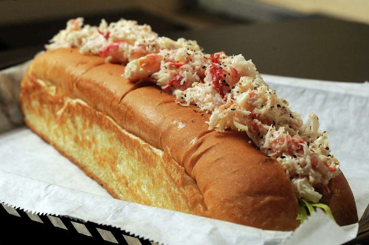 Maine-ly Sandwiches' crab roll.
