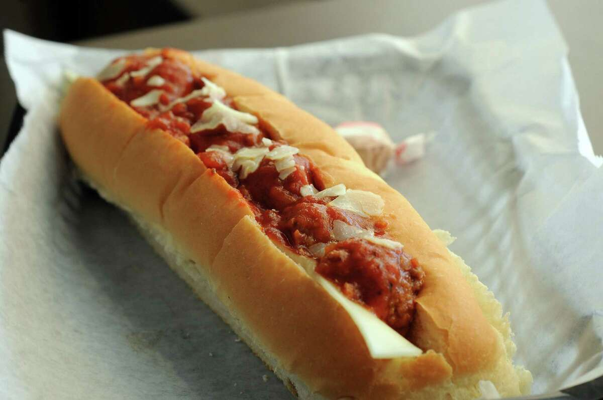 The meatball sandwich at the Maine-ly Sandwiches on S. Shepherd Friday Oct. 04,2013.(Dave Rossman photo)