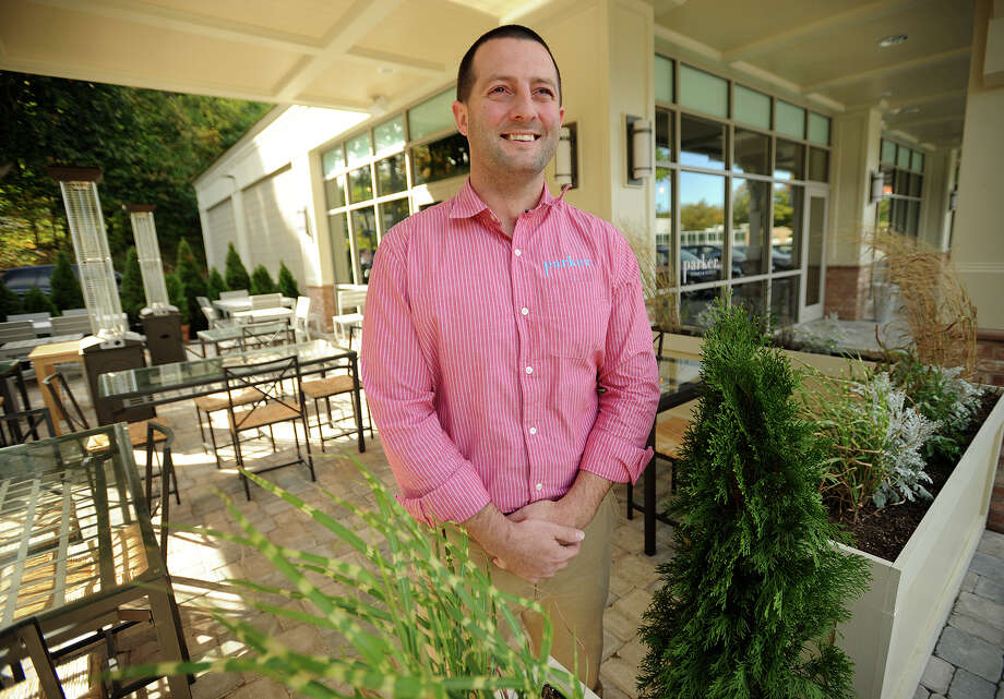 Owner Patrick Fahey stands on the patio of his newest restaurant, Parker Steak & Scotch at 921 White Plains Road in Trumbull, Conn. on Tuesday, October 8, 2013. Photo: Brian A. Pounds / Connecticut Post