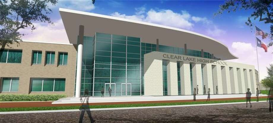 Construction is slated to start in April on the first phase of the new campus for Clear Lake High School. The rendering above gives an image of the completed school.