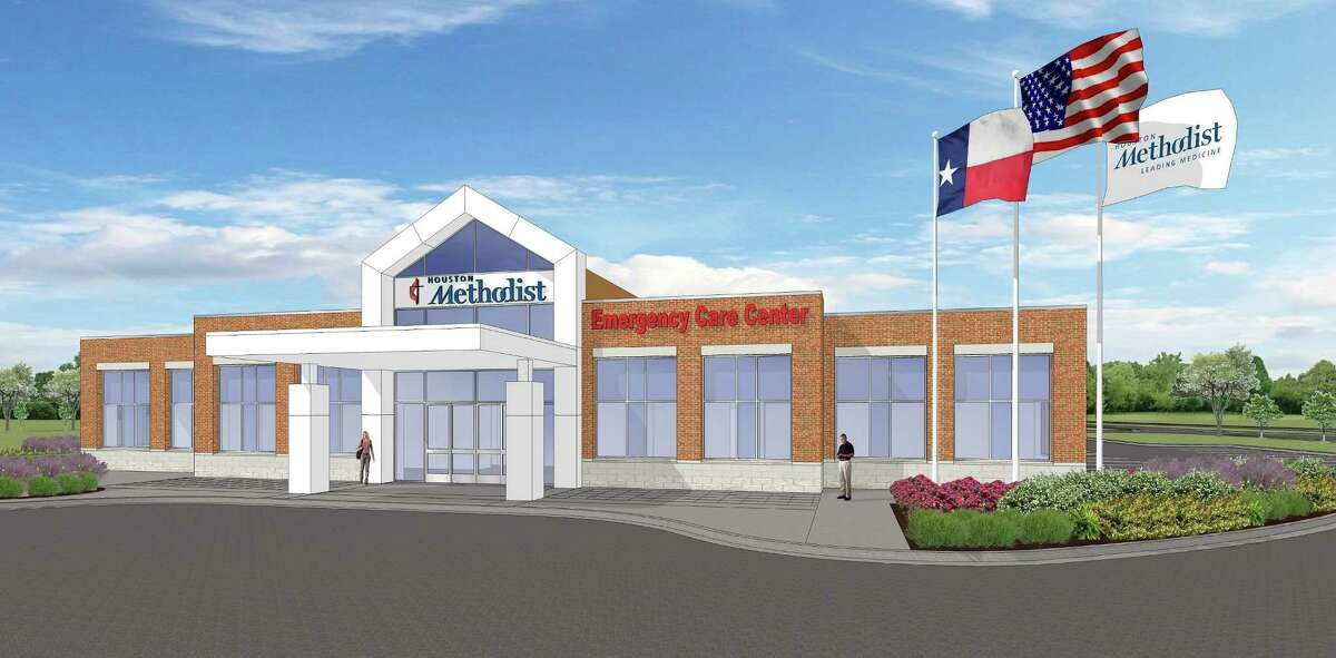 The under-construction Houston Methodist Pearland Emergency Care Center will look like this rendering when it's completed early next year. The under-construction Houston Methodist Pearland Emergency Care Center will look like this rendering when it's completed early next year.