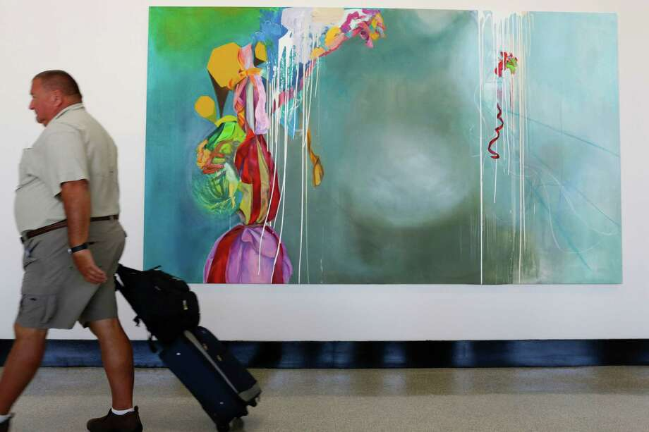 A painting by Casey Arguelles Gregory. Photo: Eric Kayne, For The Chronicle / ©Eric Kayne 2013