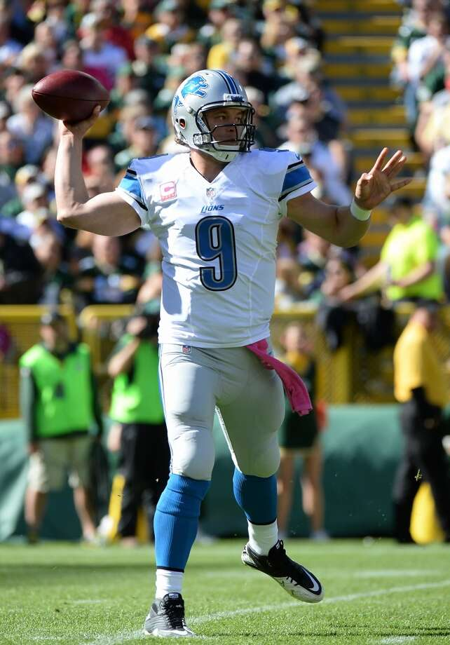 11. Lions (3-2)  Last week: 6Matthew Stafford has thrown for 14,331 yards, the most by a quarterback through the first 50 games of his career. Photo: Harry How, Getty Images