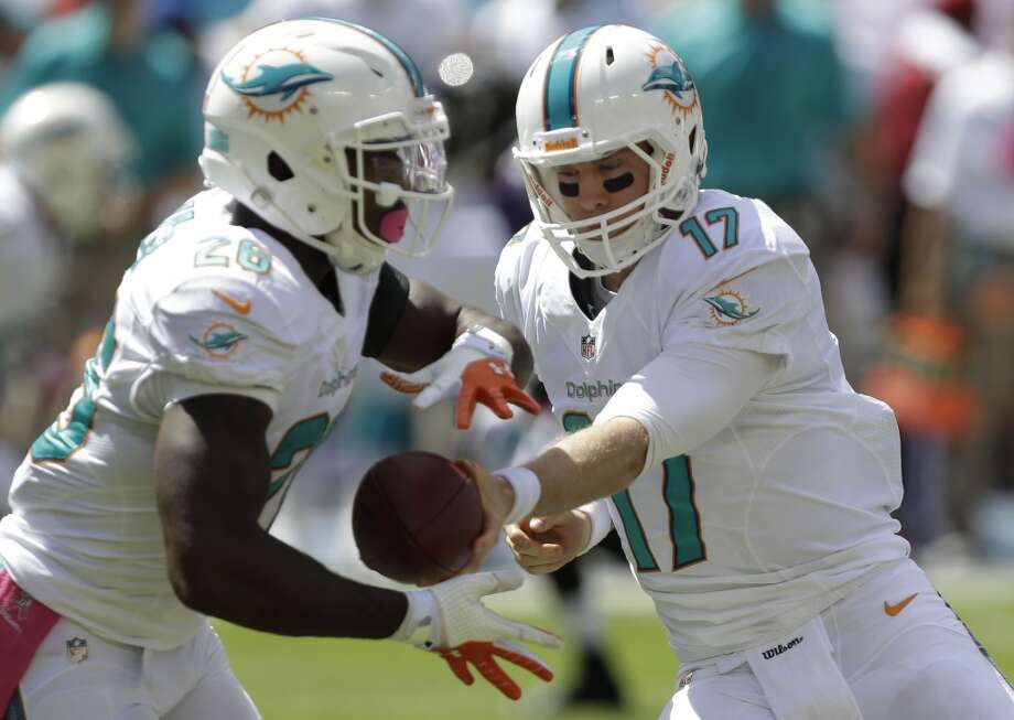 14. Dolphins (3-2)  Last week: 10Ryan Tannehill has suffered NFL-high 24 sacks. Bad pass protection is a reason Miami lost last 2. Photo: Wilfredo Lee, Associated Press
