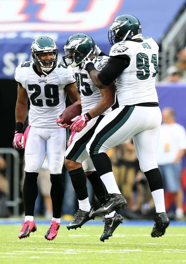 19. Eagles (2-3) Last week: 22How bad is the NFC East? Co-leading Eagles are just 2 games ahead of winless Giants. Photo: Elsa, Getty Images