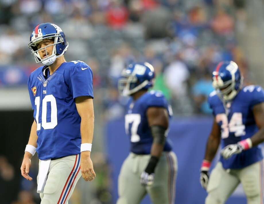 31. N.Y. Giants (0-5) Last week: 29   This is their worst start in non-strike year since '79. 182 points allowed are their most through 5 games since '67. Photo: Elsa, Getty Images