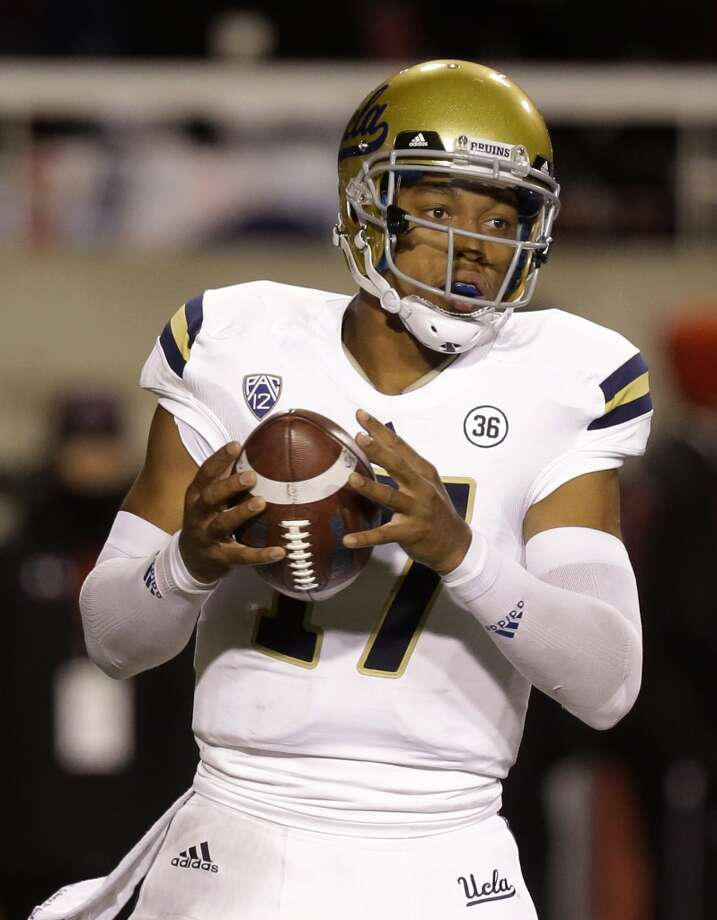 2. Brett Hundley, 6-3, 222, Soph., UCLA  He's got splendid size, an impressive arm, terrific skills and is loaded with potential.  2013 stats so far: 1,059 passing yards, 9 touchdowns, 4 interceptions, 65.5 completion percentage, 242 rushing yards, 3 rushing touchdowns Photo: Rick Bowmer, Associated Press
