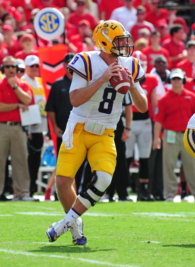 6. Zach Mettenberger, 6-5, 235, Sr., LSU  A classic pocket passer who has excelled under new offensive coordinator Cam Cameron.  2013 stats so far: 1,783 passing yards,15 touchdowns, 2 interceptions, 68.2 completion percentage Photo: Scott Cunningham, Getty Images