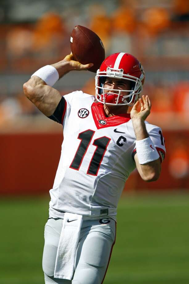 9.  Aaron Murray, 6-1, 208, Sr., Georgia  He's a dynamic team leader who's tough, has a good arm and sound mechanics.  2013 stats so far: 1,534 passing yards, 14 touchdowns, 3 interceptions, 64.9 completion percentage Photo: Wade Payne, Associated Press