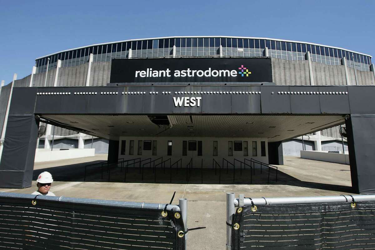 The site work and removal of ticket booths, concrete stairs, ramps and transmission lines has begun at Reliant Astrodome the 8th Wonder of the World Tuesday, Oct. 8, 2013, in Houston.