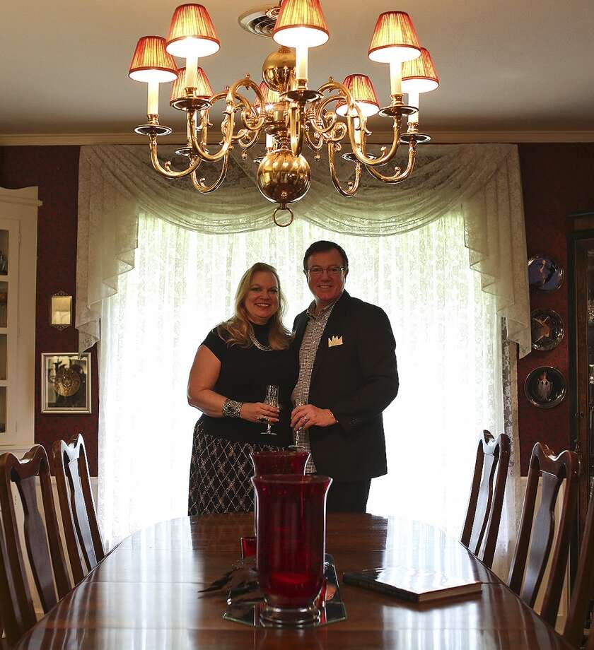 Steven and Mary Bull stand in the dining room of their Alamo Heights home on Sept. 20, 2013. Photo: San Antonio Express-News