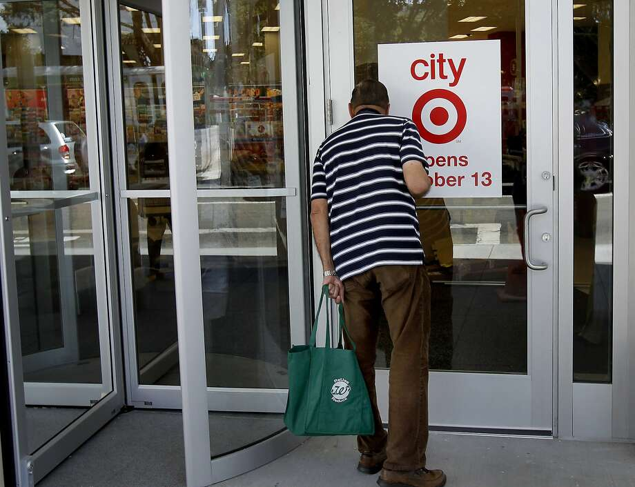 Target has had to modify how it stocks and delivers merchandise to its stores scaled down to fit in cities, like this one at Geary and Masonic in San Francisco. Photo: Brant Ward, The Chronicle