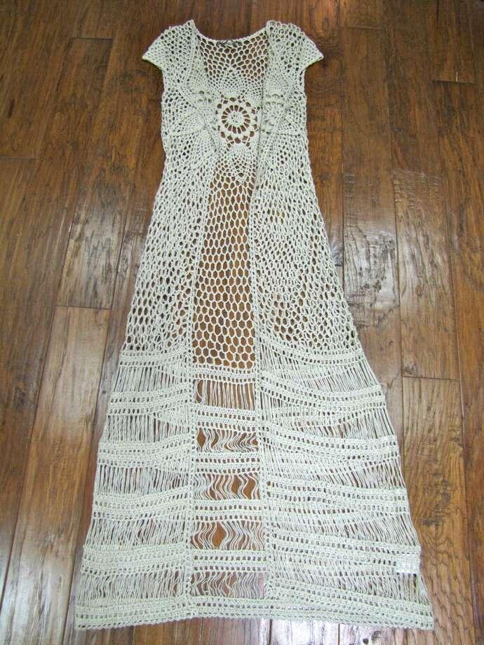 Crochet cardigan, YaYa Club, Beaumont, $129 Photo: Cat5