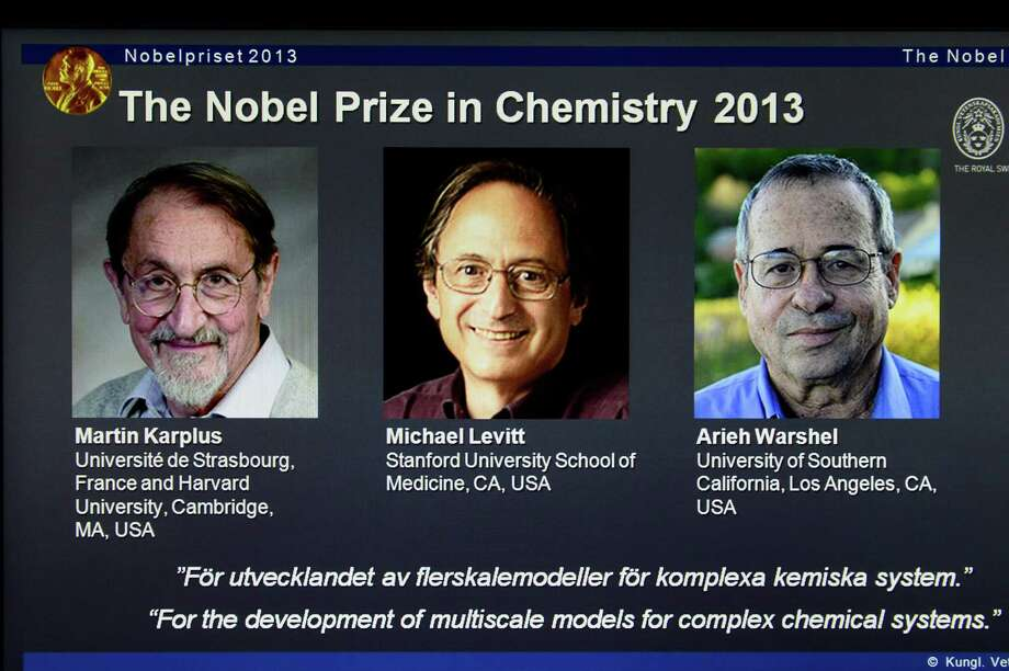 Martin Karplus, Michael Levitt and Arieh Warshel won the 2013 Nobel Prize in chemistry. Photo: Claudio Bresciani