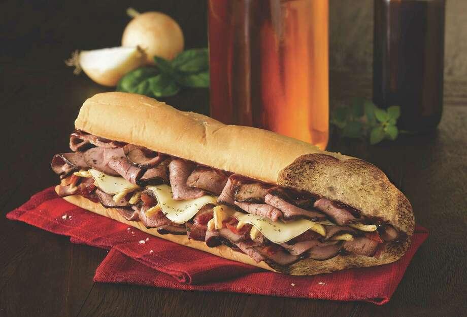 Bourbon Steak sandwich at Quiznos Photo: --