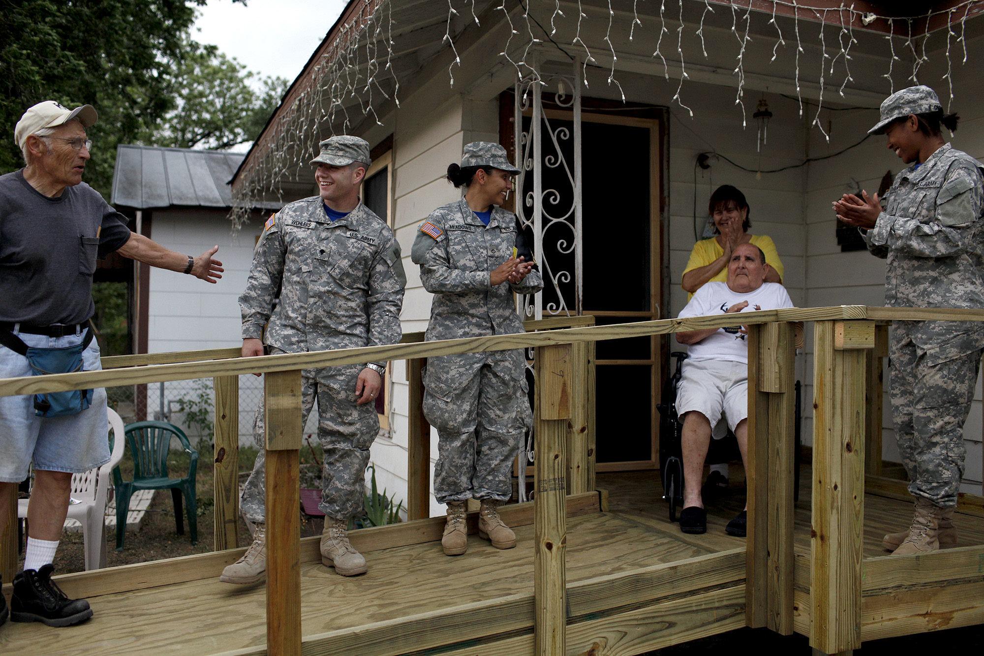 Volunteers Plan Wheelchair Ramp Building Blitz San