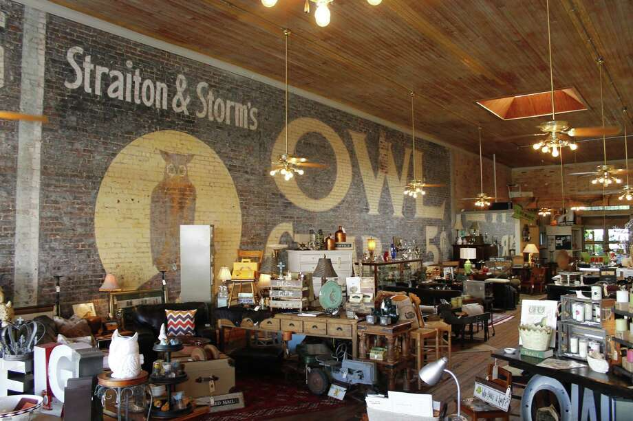 The Owl Wine Bar & Home Goods stocks a well-curated mix of antiques ... and adult beverages. Photo: Michael Paulsen / Jody Schmal