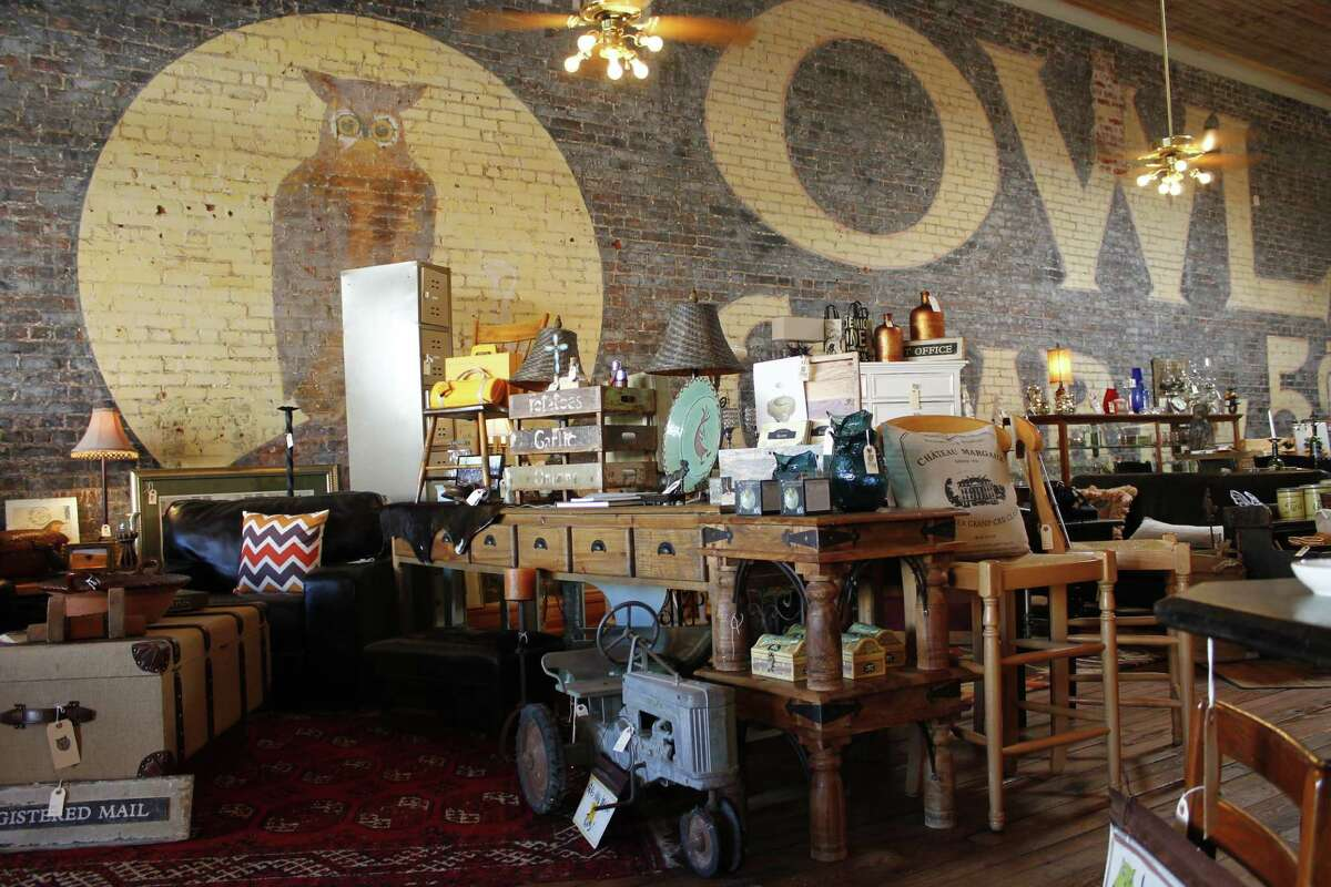 The Owl Wine Bar & Home Goods in Elgin, Tex. stocks a well-curated, accessibly-priced mix of antique pieces and accessories. It also doubles as a bar, serving wine, beer and snacks, along with live music on weekends. Details: 106 N. Main, 512-285-3547;elginowl.com.