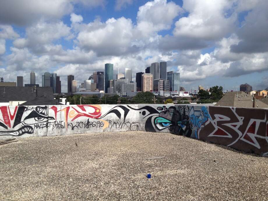 View from Schlumberger building overlooking the city's skyline and Houston's East End. Photo: Erin Mulvaney