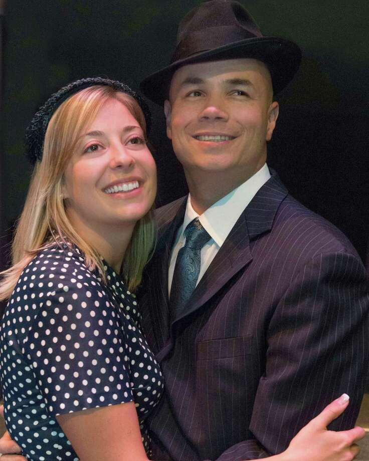 """Maggie Ecker and Andrew Elder in Schenectady Light Opera Company's production of """"Guys and Dolls,"""" fall 2013. (Courtesy SLOC)"""
