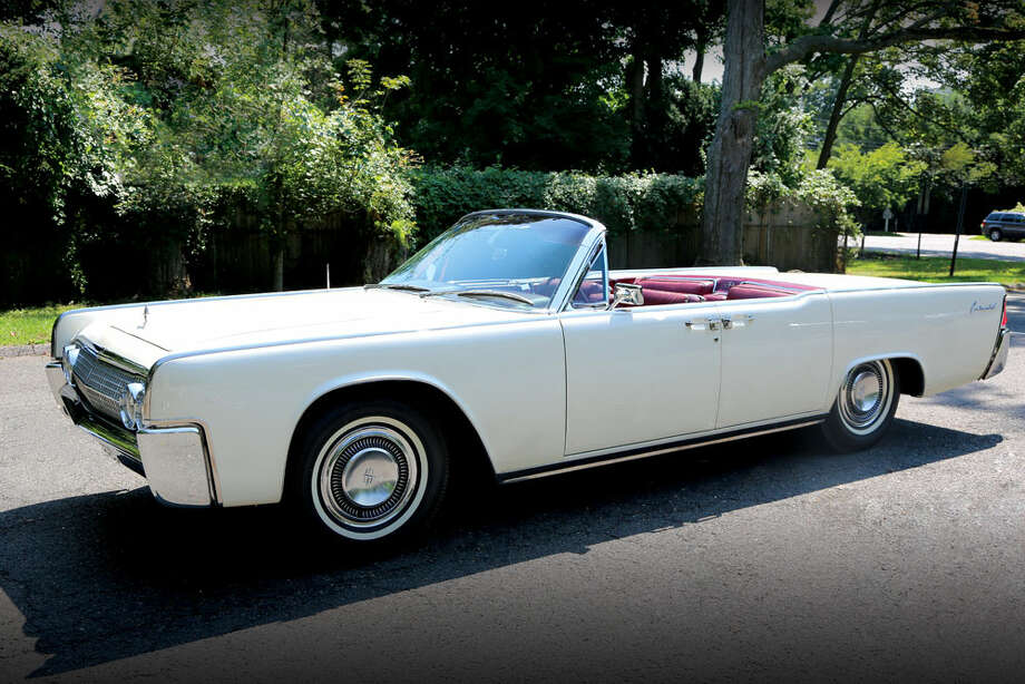 This 1963 Lincoln Continental was used by John F. Kennedy hours before his assassination. The car will be auctioned off later this month. Photo: RR Auctions