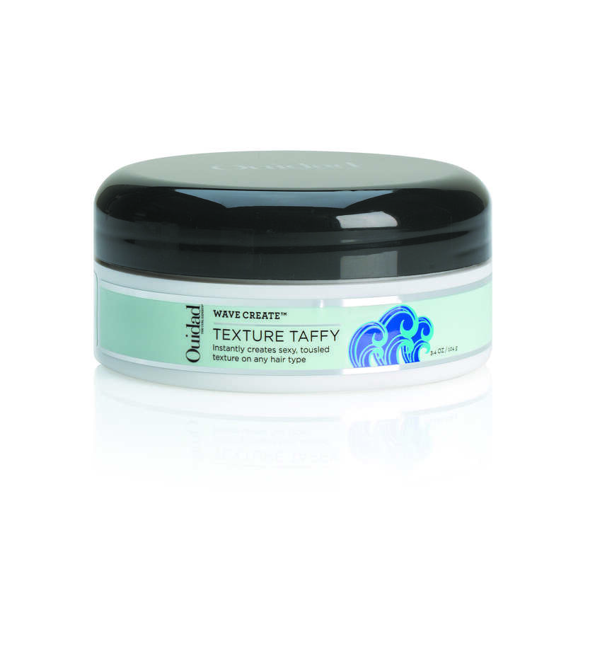 Texture Taffy from Ouidad's Wave Create collection works with Sea Spray to produce waves and curls that last all day.