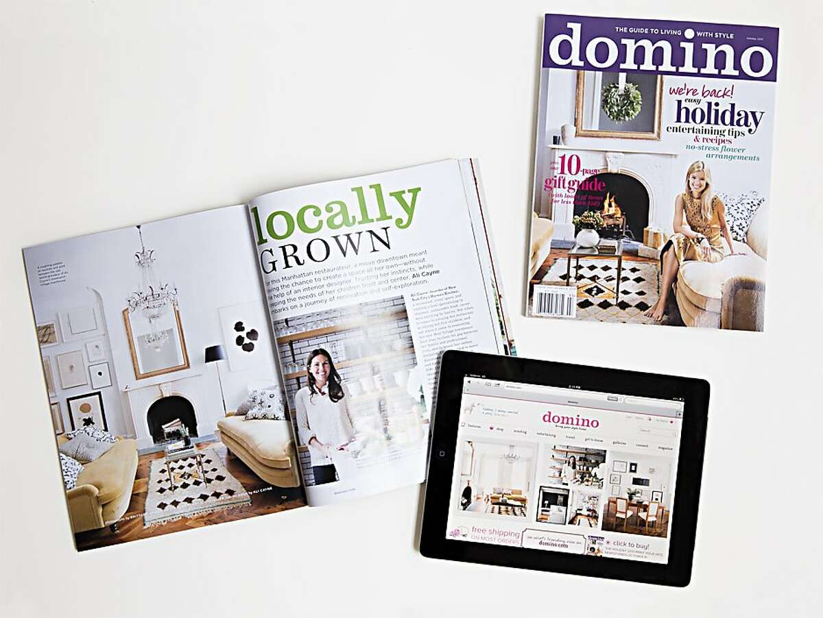 Domino is relaunching with new website, which allows readers to purchase the items they read in stories on the site. In addition, a quarterly magazine is being sold on newsstands for $11.99.