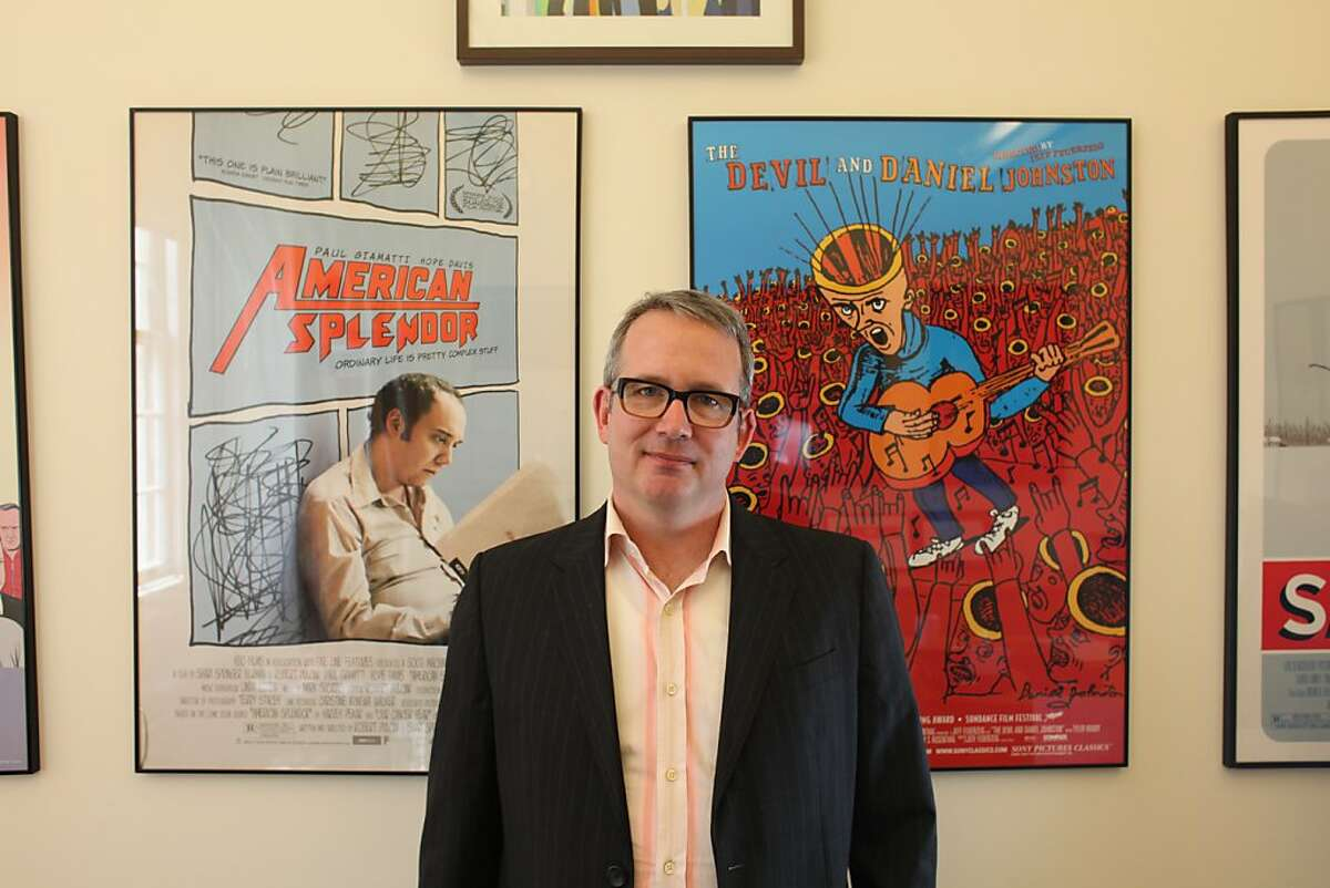 Ted Hope, executive director of the San Francisco Film Society, poses for a portrait in his office on April 11th 2013.
