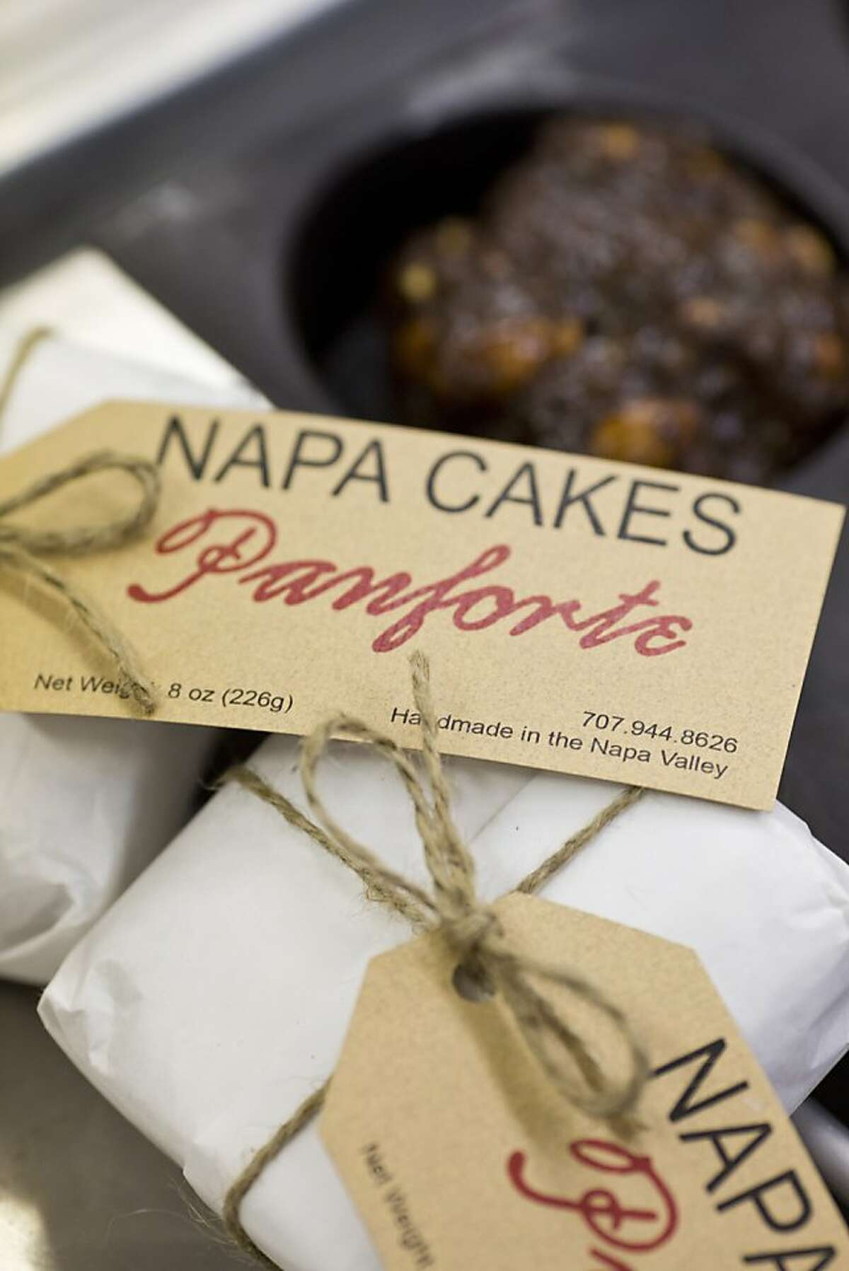 Napa Cakes Panforte, made by hand by Marjorie Caldwell, are available in stores like Bi-Rite markets and other boutique stores in Napa, Calif., Friday, October 4, 2013.