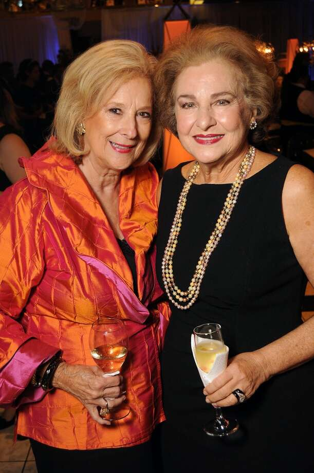 Mary Ann McKeithan and Joann Crassas at the Houston Ballet Ball Kick-Off party over the ice rink at the Galleria Tuesday Oct. 08,2013.(Dave Rossman photo) Photo: For The Houston Chronicle