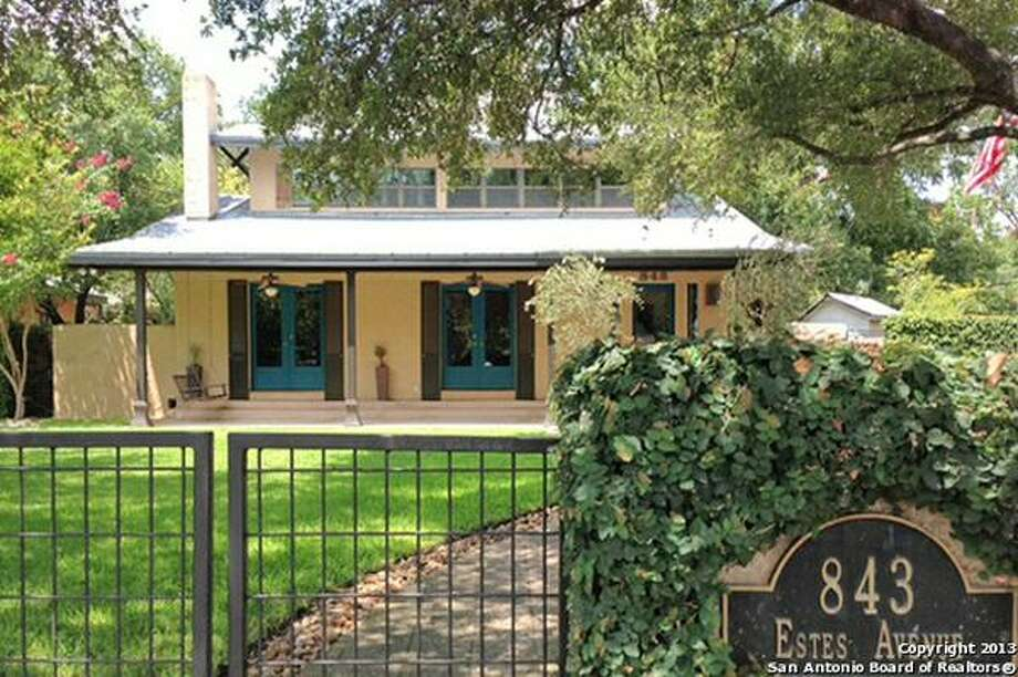 843 Estes Ave., San Antonio, TX 78209-5223 Photo: Courtesy Photo