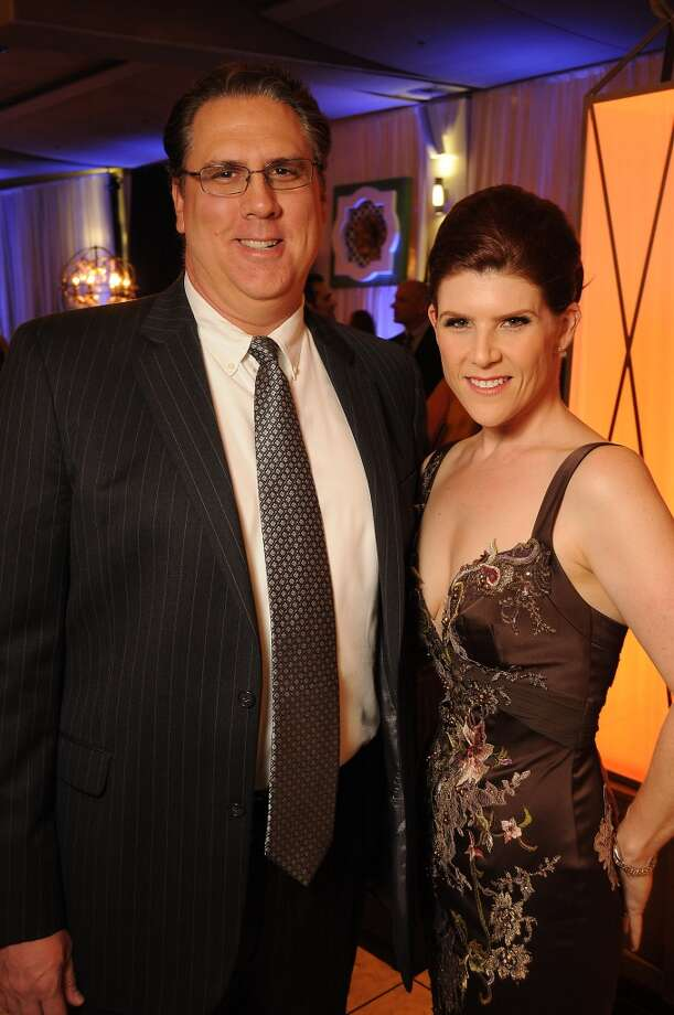 Kevin Orme and Heather Blocker-Orme at the Houston Ballet Ball Kick-Off party over the ice rink at the Galleria Tuesday Oct. 08,2013.(Dave Rossman photo) Photo: For The Houston Chronicle