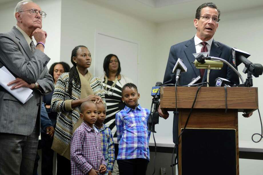 Gov. Dannel P. Malloy announces a plan to allocate state funds to keep open federally-supported ABCD preschool programs through the end of November Wednesday, Oct. 9, 2013 at ABCD, Action for Bridgeport Community Development, in Bridgeport, Conn. Photo: Autumn Driscoll / Connecticut Post