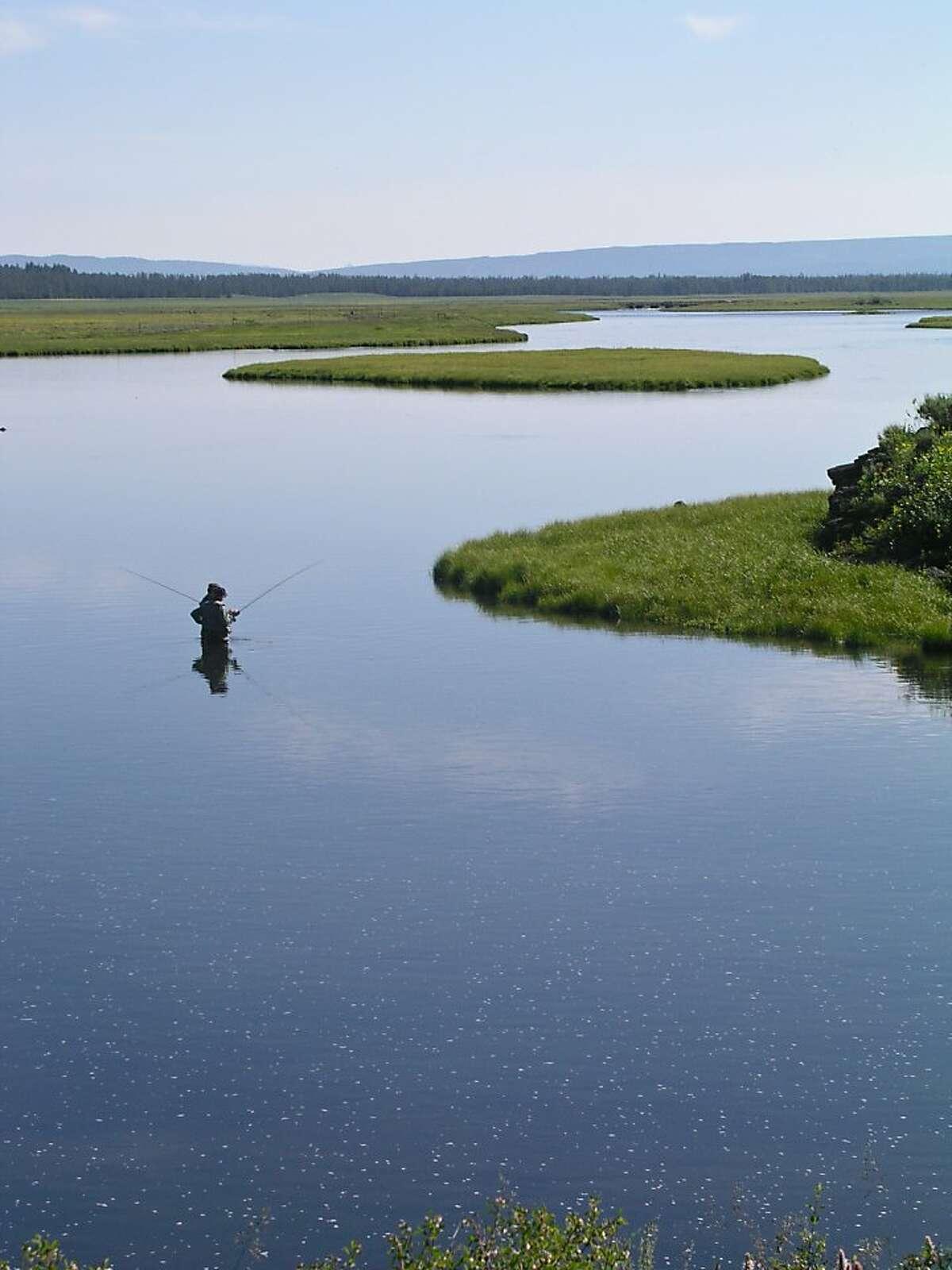 Fly fishing in southeastern Idaho.