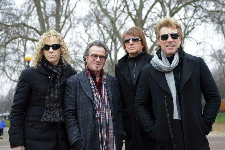 David Bryan (from left) Tico Torres, Richie Sambora and Jon Bon Jovi were a 30-year unit before Sambora took a sabbatical from the band. Photo: Getty Images