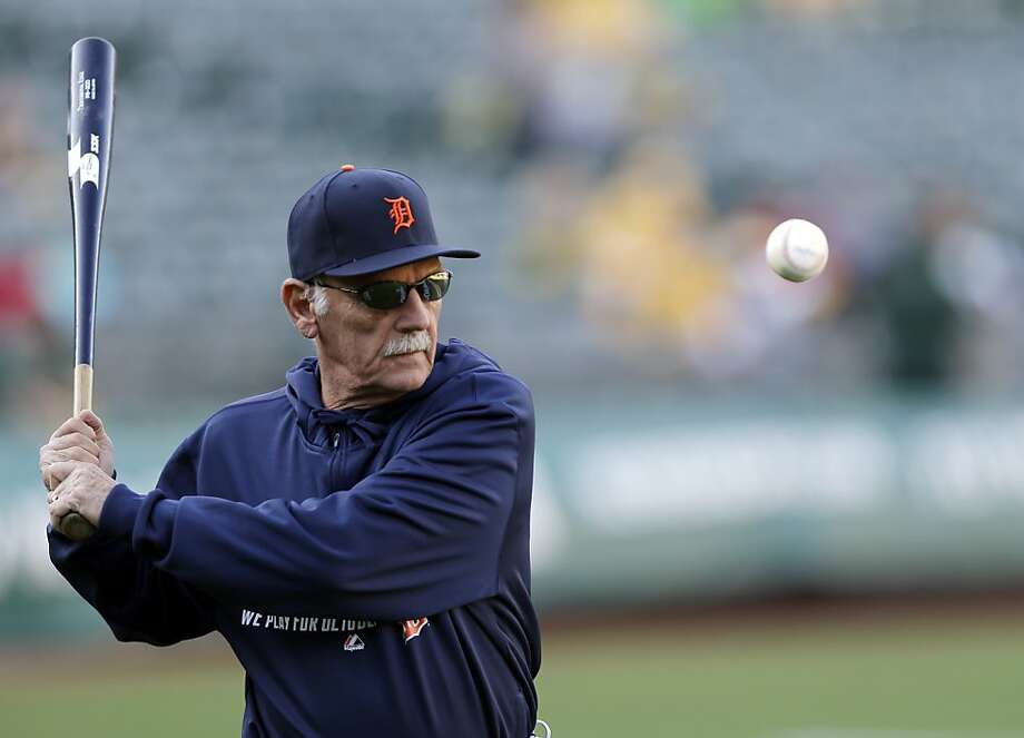 Manager Jim Leyland, hitting balls before Game 1, says he expects another pitching duel between Justin Verlander and Sonny Gray. Photo: Marcio Jose Sanchez, Associated Press
