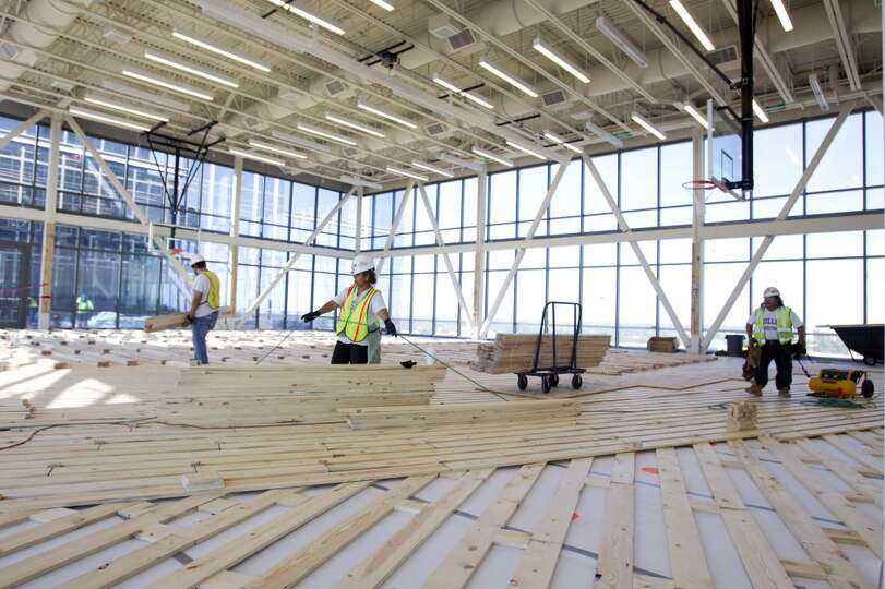 A Basketball Court Is Being Built Inside Anadarko 39 S New