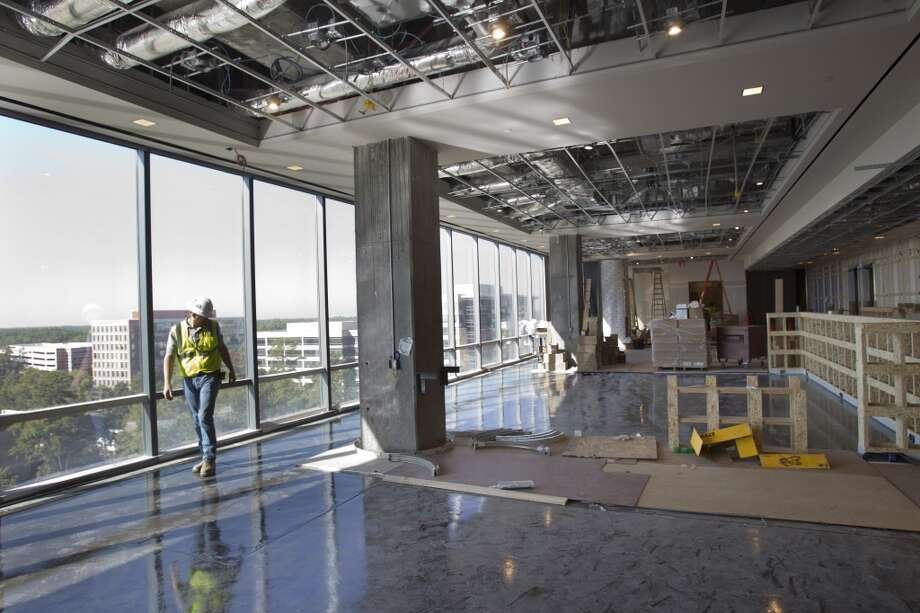 A dining room at the Hackett Tower is shown at Anadarko Wednesday, Oct. 9, 2013, in Houston. Photo: Brett Coomer, Houston Chronicle