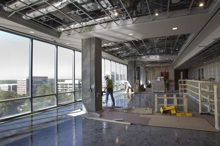 A dining room is under construction at Anadarko's new Hackett Tower on Oct. 9, 2013, in The Woodlands. Photo: Brett Coomer, Houston Chronicle