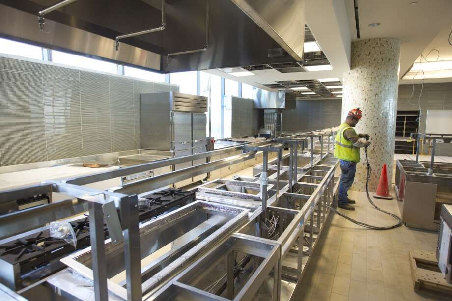 The dining facility is under construction at Anadarko's new Hackett Tower in The Woodlands. Photo: Brett Coomer, Houston Chronicle