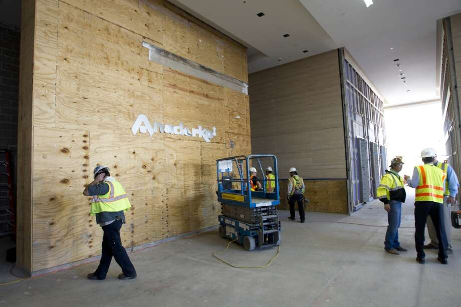 The main lobby inside the new Hackett Tower is being built at Anadarko Wednesday, Oct. 9, 2013, in Houston. ( Brett Coomer / Houston Chronicle ) Photo: Brett Coomer, Houston Chronicle